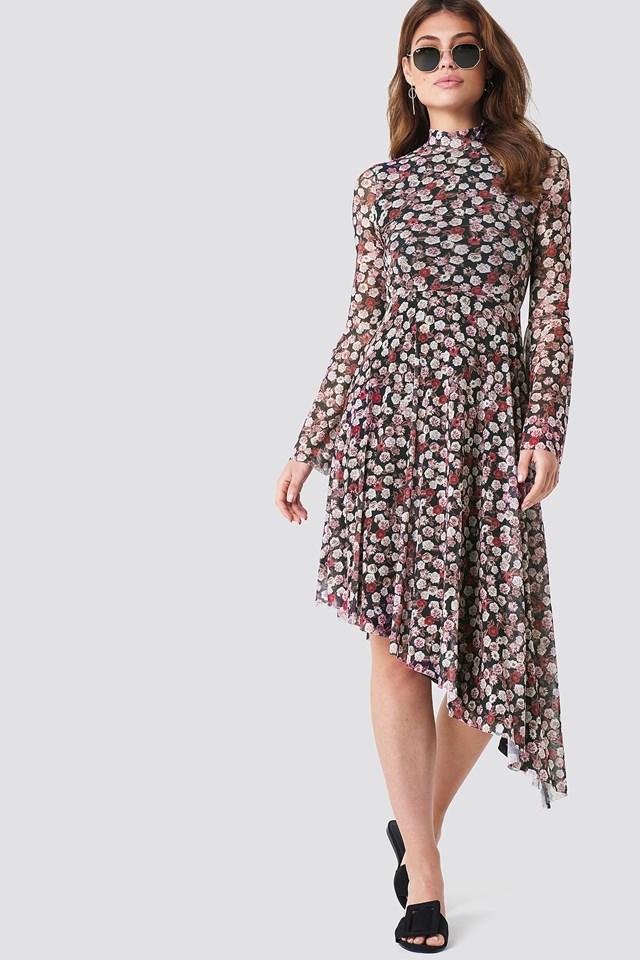 Patterned Mesh Dress