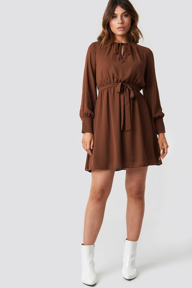 Brown Mini Dress Outfit