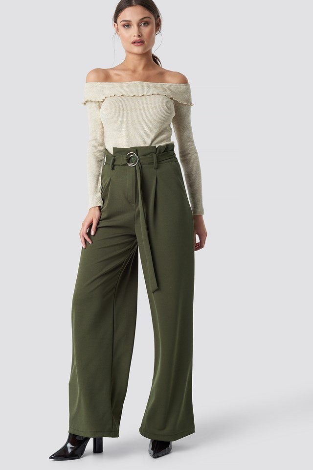 Paperbag trousers outfit