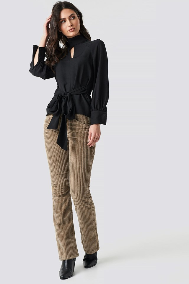 Polo Neck Blouse Outfit