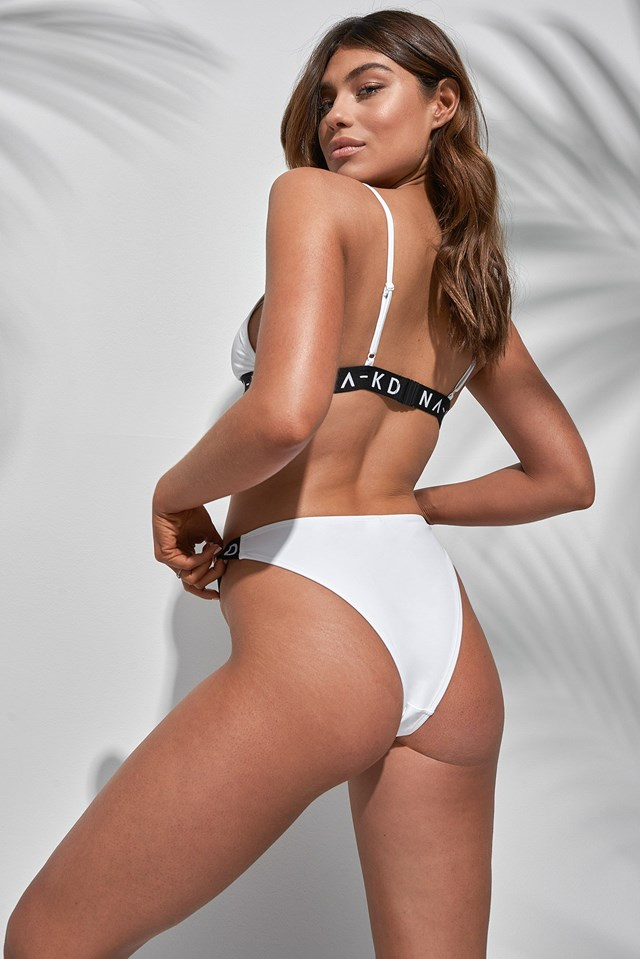 Sporty Logo Triangle Bikini Outfit