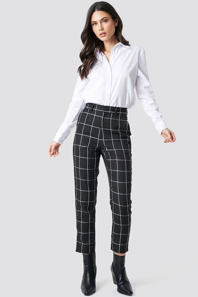 Printed Suit Pants Outfit