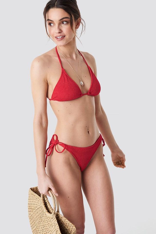 Bikini top outfit.