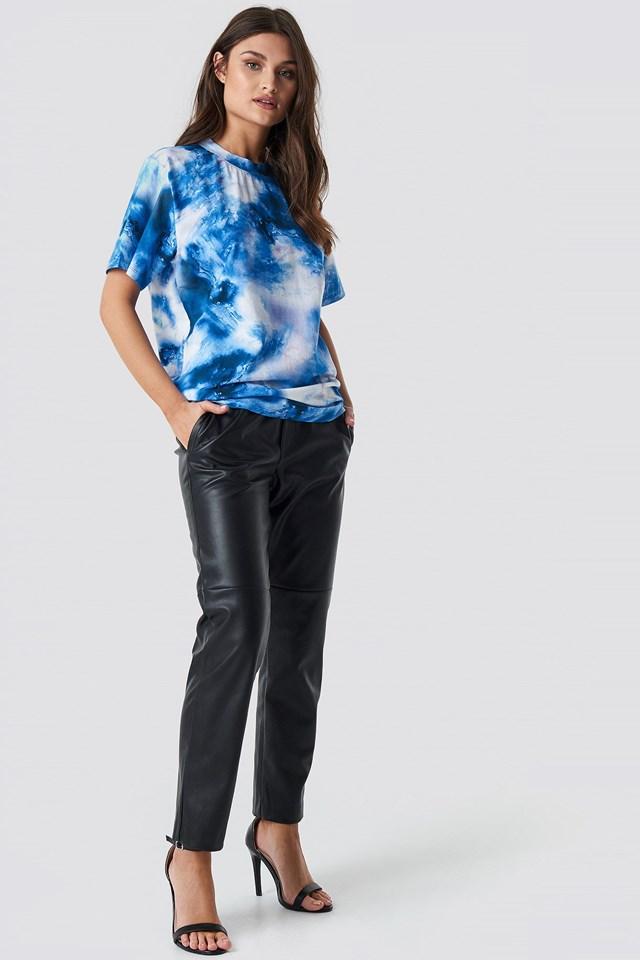 Aquarelle Print Unisex Tee Outfit