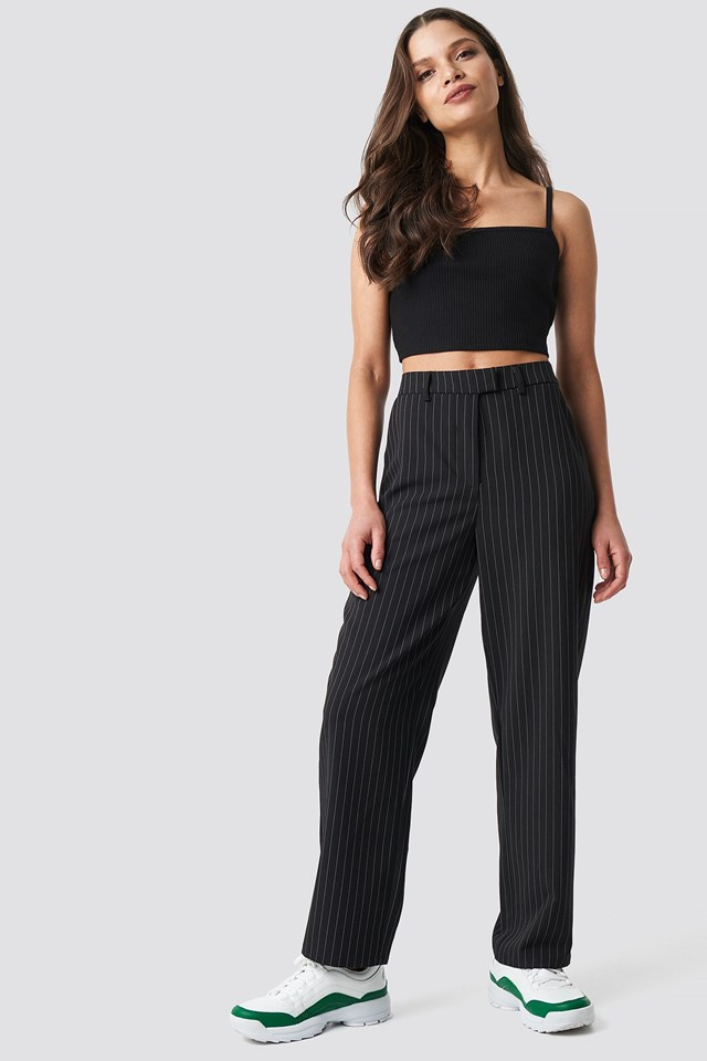 Cropped RIbbed Singlet Outfit