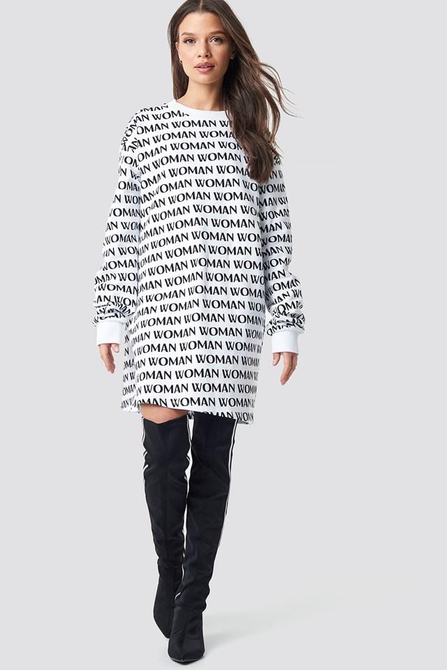 Woman Printed Sweatshirt Black Outfit