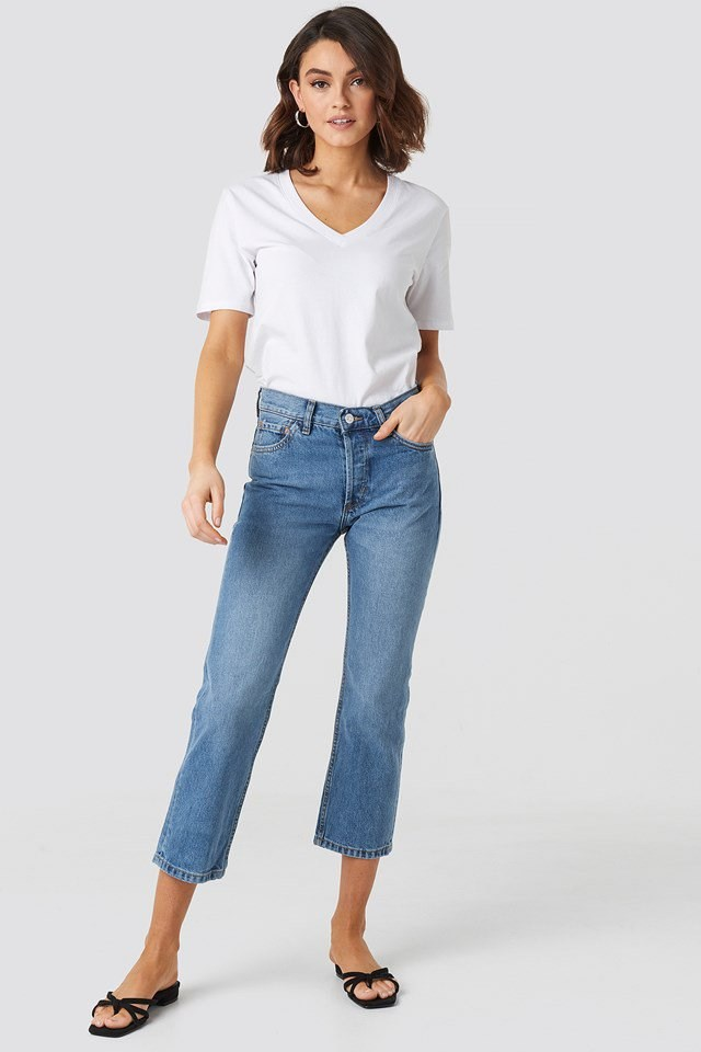 Cropped Ankle Jeans Outfit