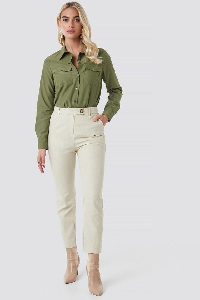 Linen Suit Pants Outfit