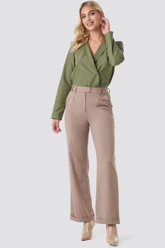 Highwaist Rolled Up Pants Outfit