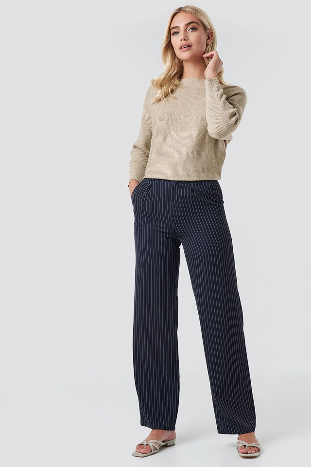 Flared Striped Pants Outfit