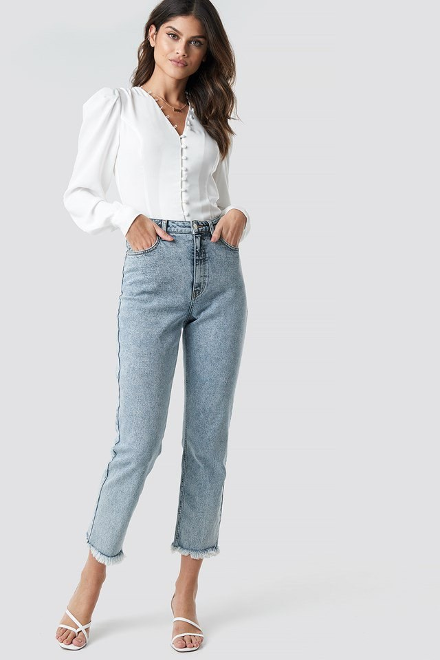 90's Babe Straight Jeans Blue Outfit