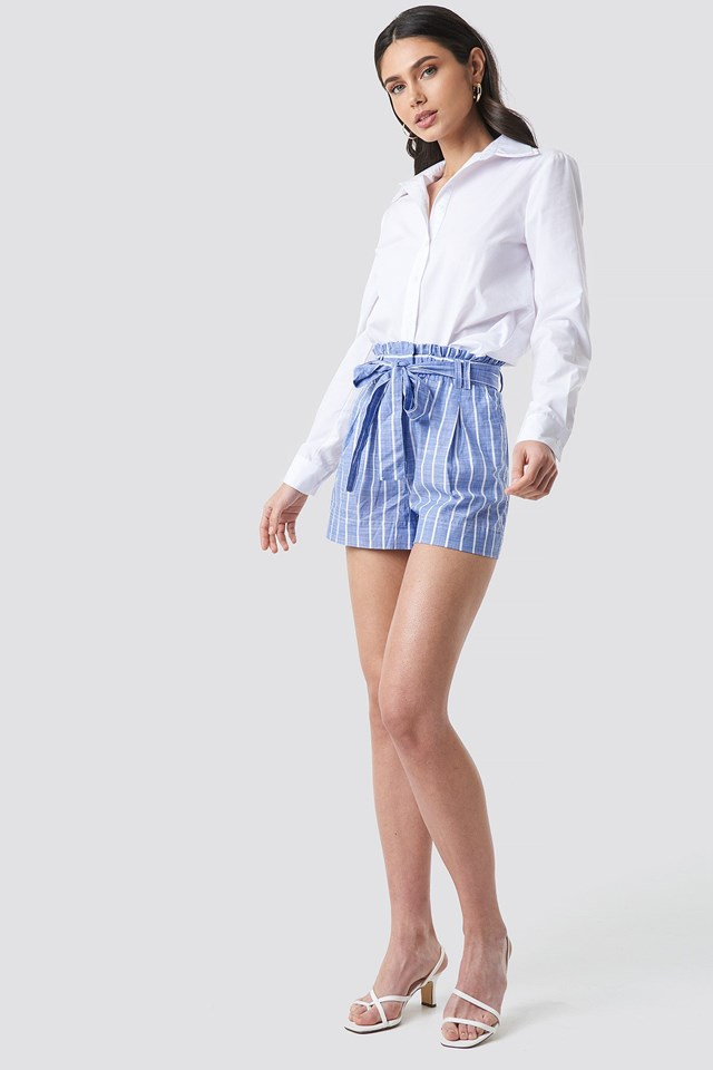 Striped Belt Shorts Outfit