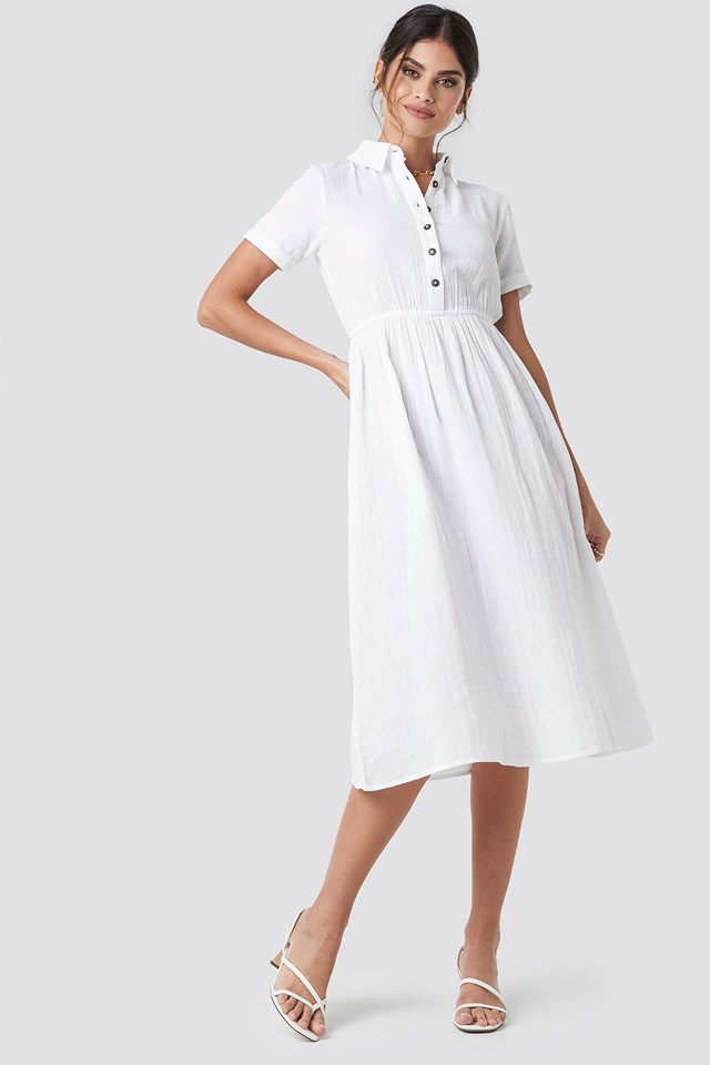 Light Cotton Midi Dress Outfit