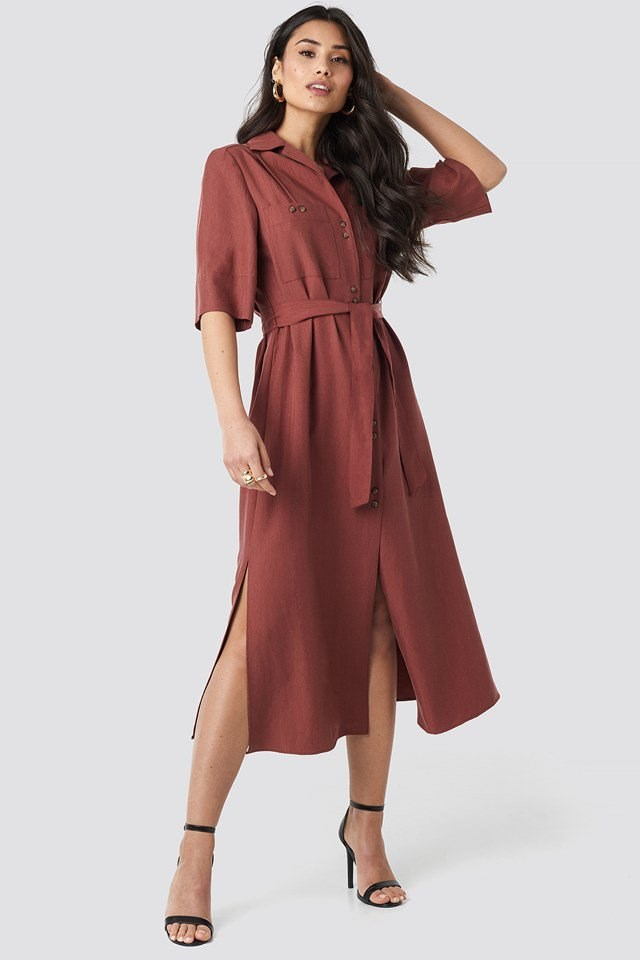 Odette Dress Brown Outfit
