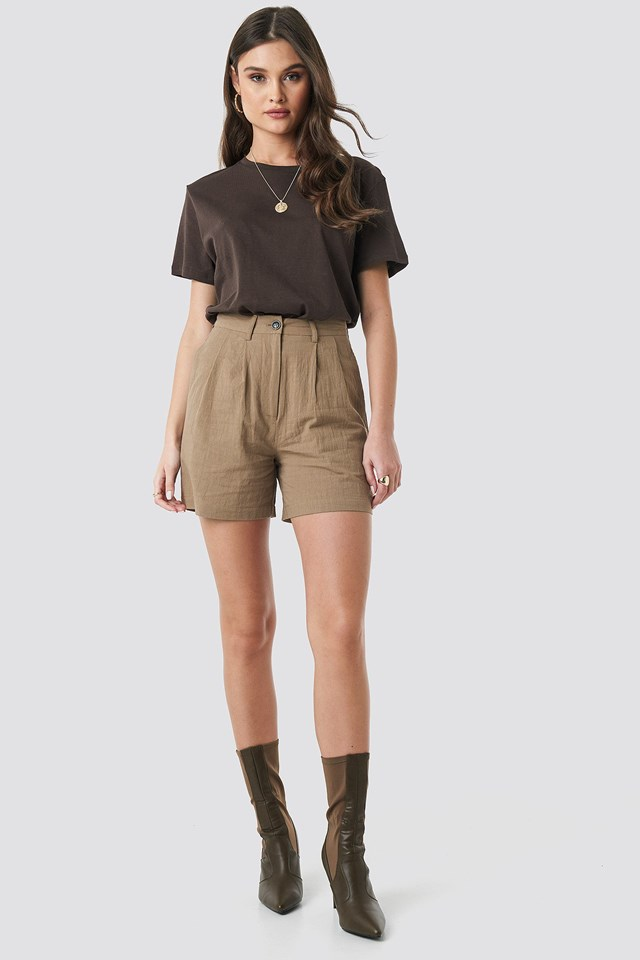 Linen Look Oversized Shorts.