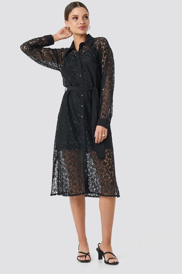 Milla Lace Midi Dress Outfit