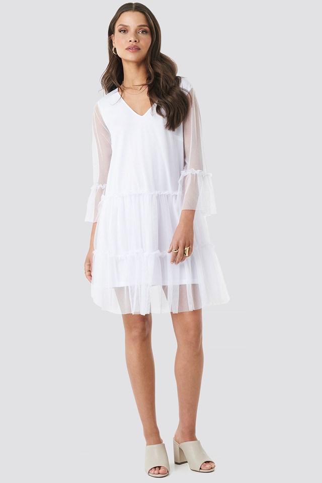 Ruffle Mesh Mini Dress Outfit