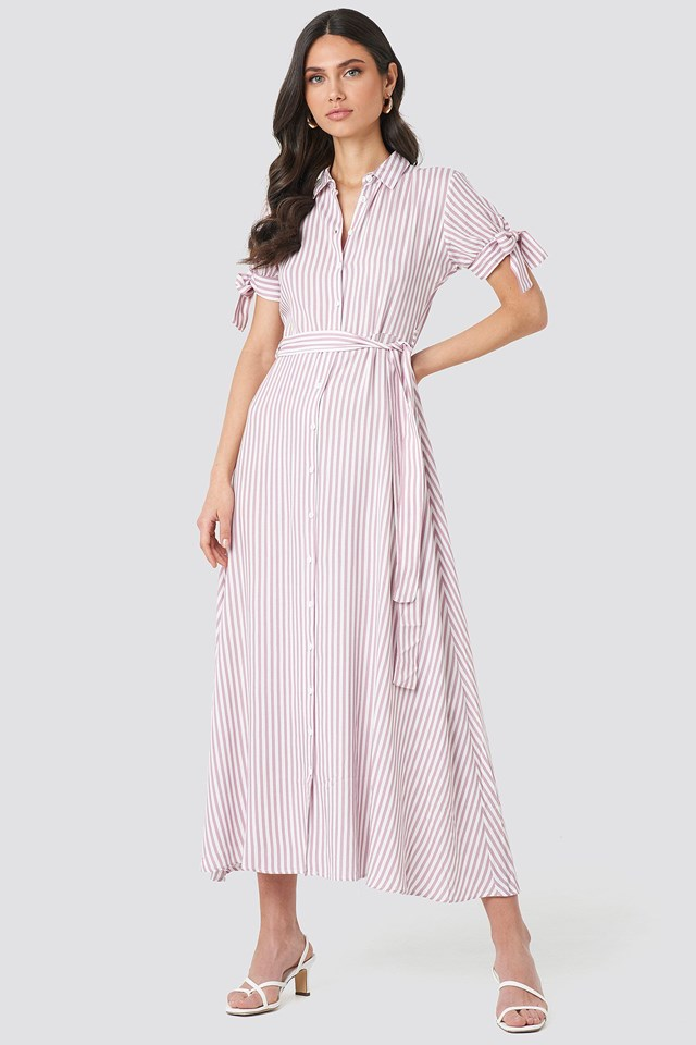 Tulum Striped Long Dress Outfit.