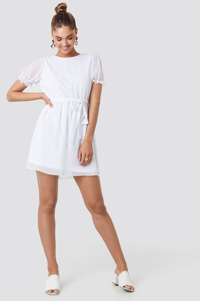 Short Sleeve Chiffon Dress Outfit