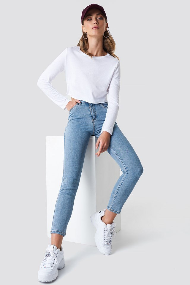 Denim Jeans with Basic Top