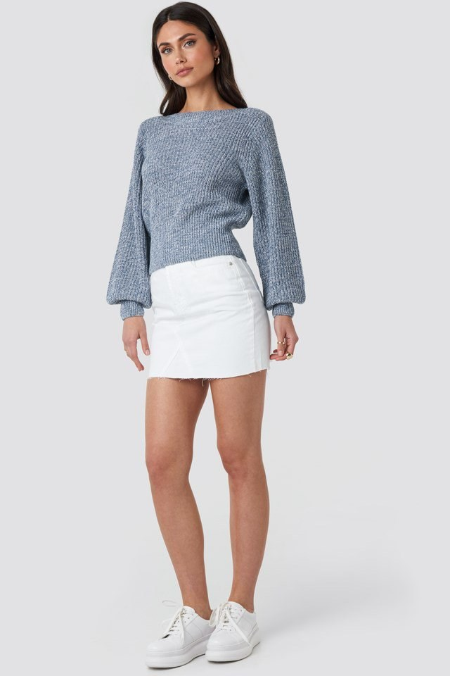 Twisted Pullover Blue Outfit