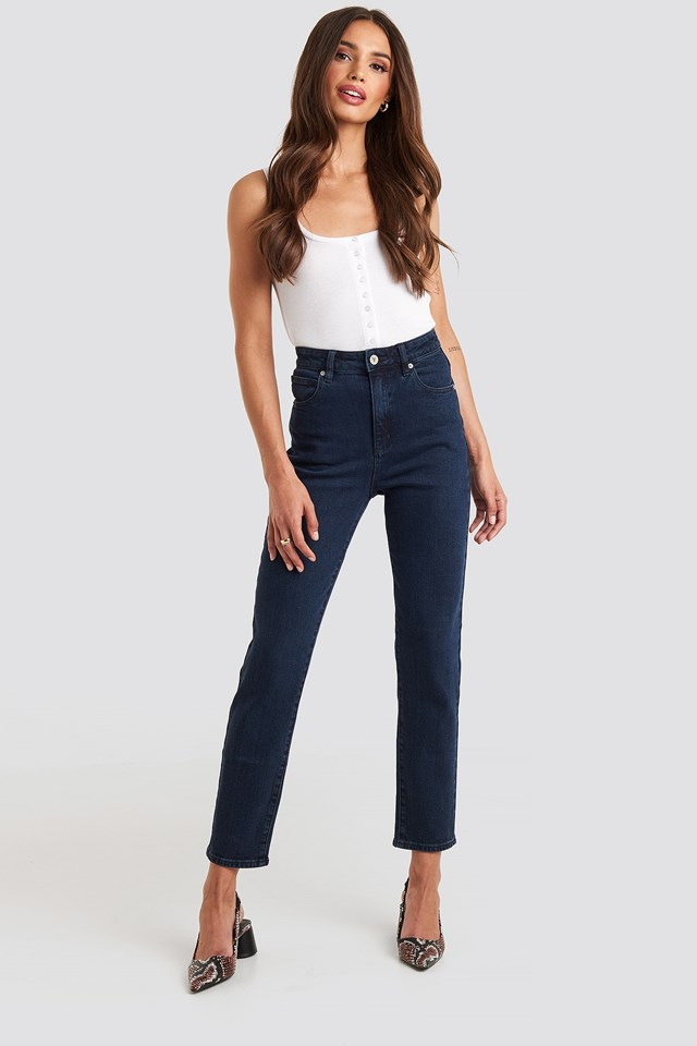 A 94 High Slim Jeans Blue Outfit