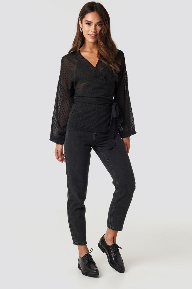 Wrap Blouse Outfit
