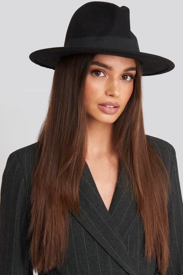 Hoss Fedora Hat and Striped Blazer Set