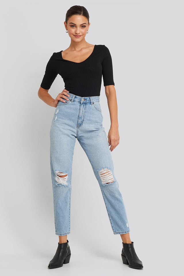 Nora Jeans Blue Outfit
