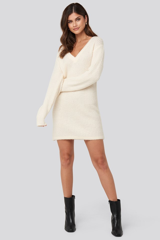 Oversized Knitted Dress Look
