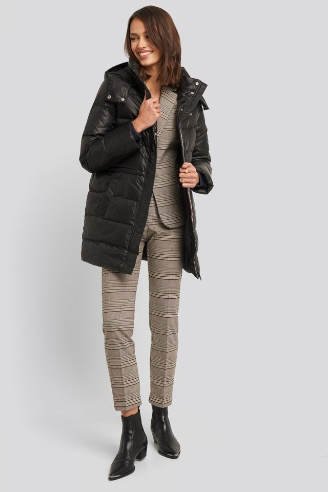 Kelli Down Puffer Jacket Outfit