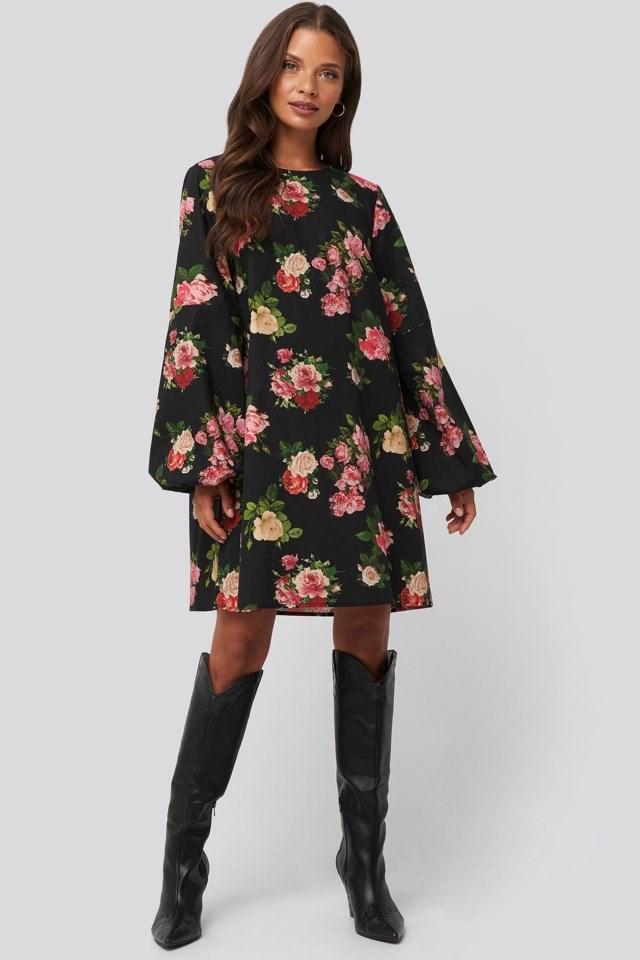 Volume LS Mini Dress Look
