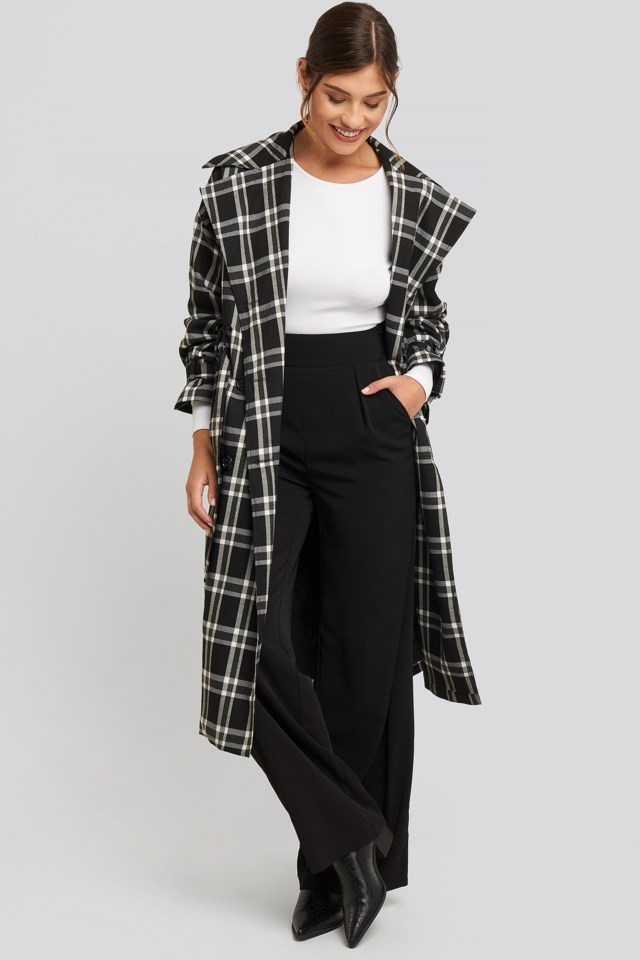 High Waisted Wide Leg Suit Pant Outfit