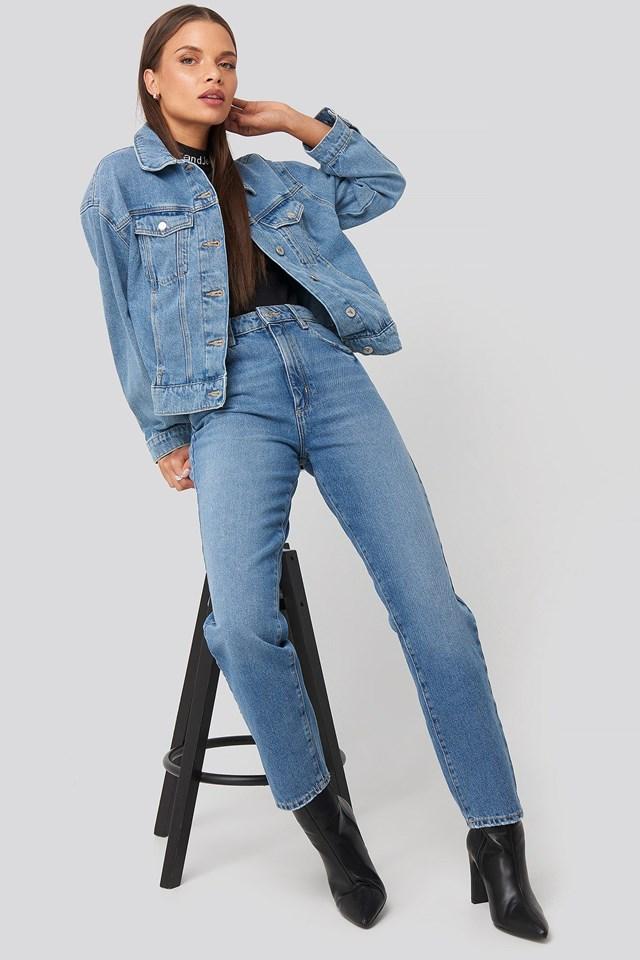 A Bonnie Denim Jacket Blue Outfit
