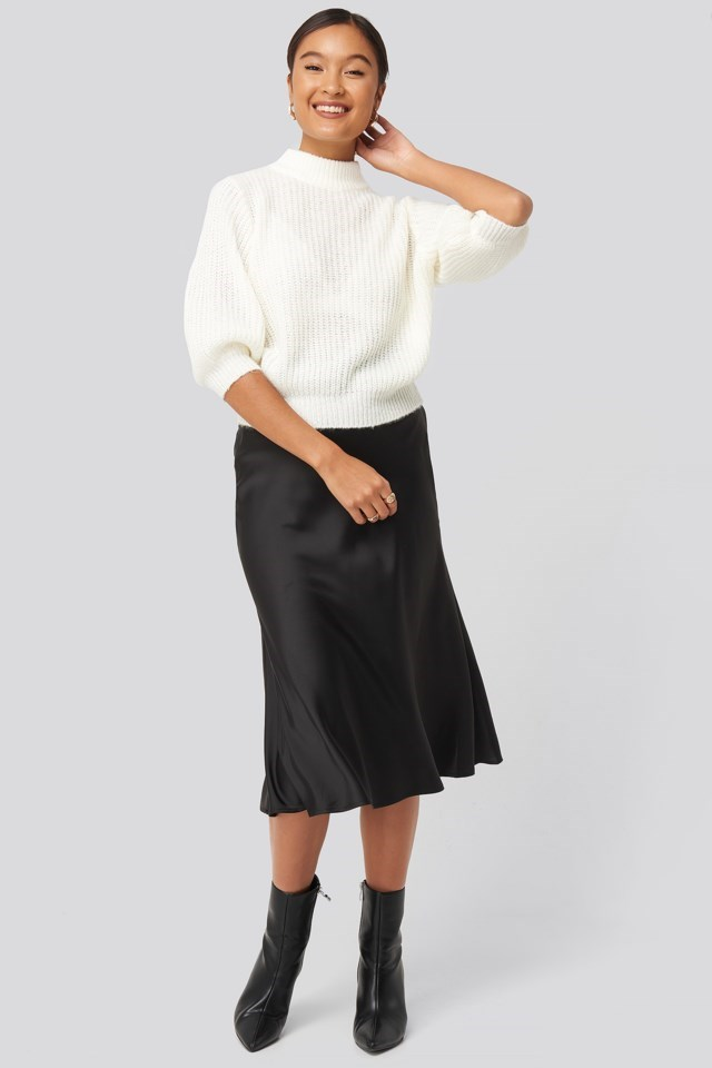 Felicia Wedin Mid Sleeve Knitted Sweater Outfit