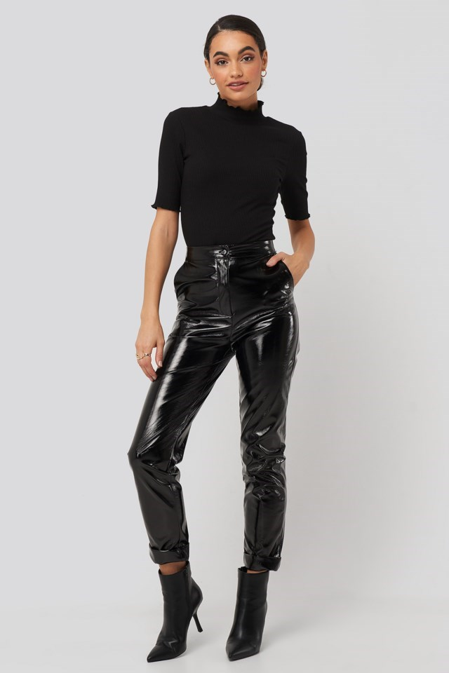 High Neck Babylock Top Black Outfit