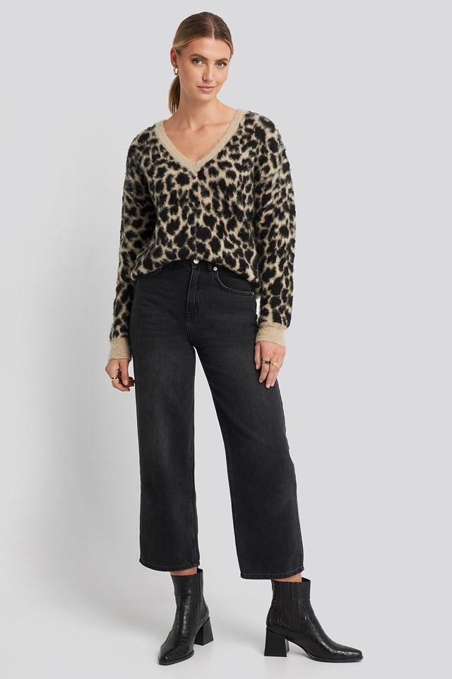 Sandy Jacquard Knit Outfit