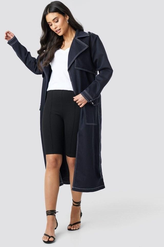 Oversized Denim Coat Look