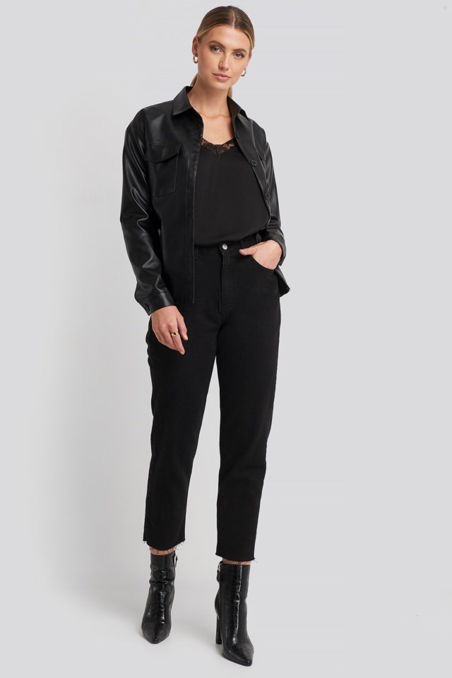 Stine Lace Singlet Black Outfit