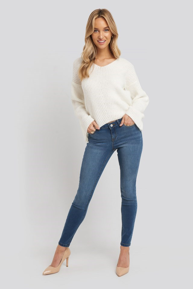 Skinny Low Waist Jeans Outfit.