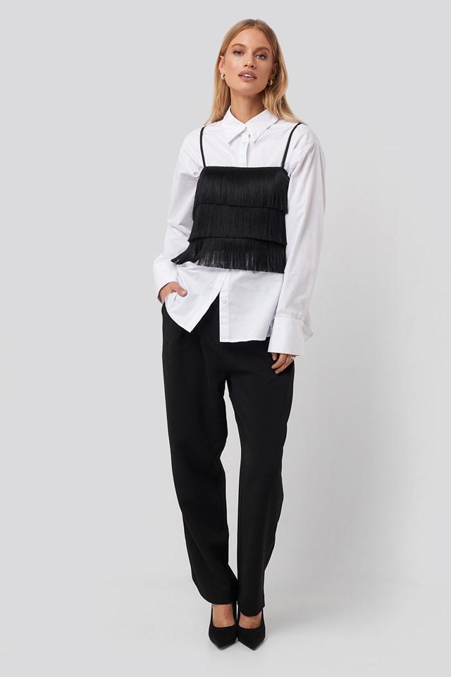 Fringe Top Black Outfit