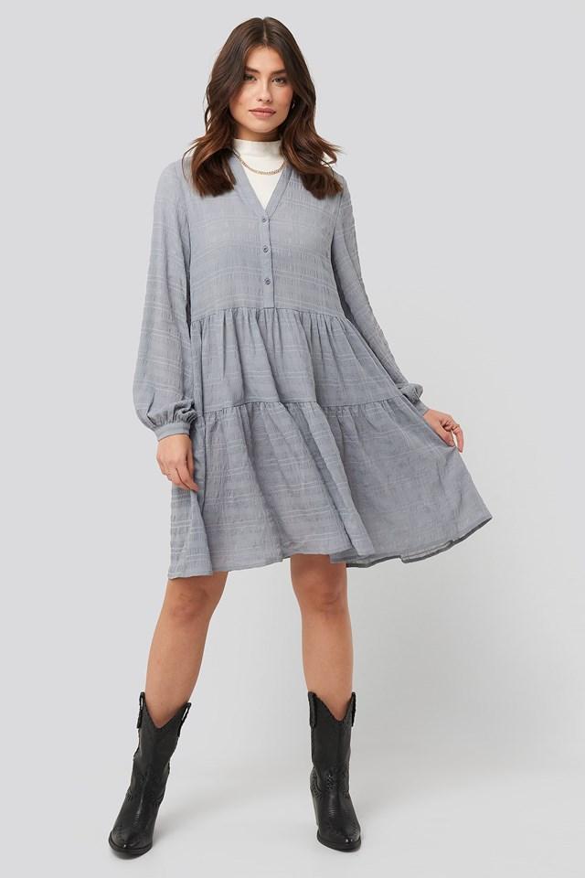 Structure A-Line Dress Blue Outfit