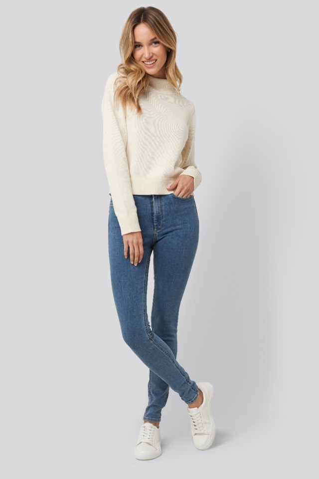 High Neck Sweater Outfit