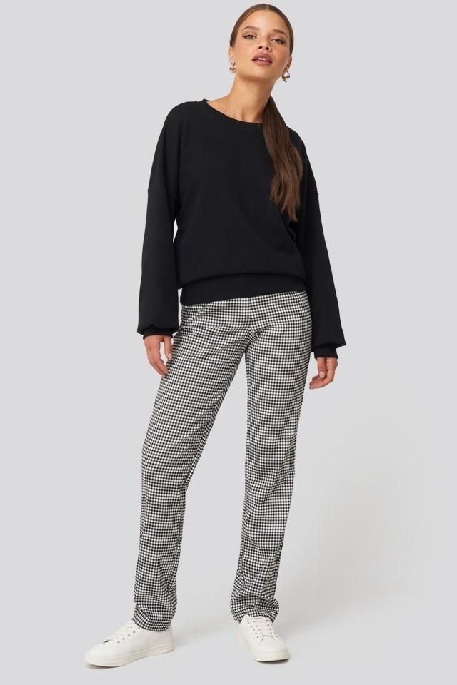 Drop Shoulder Sweater Look