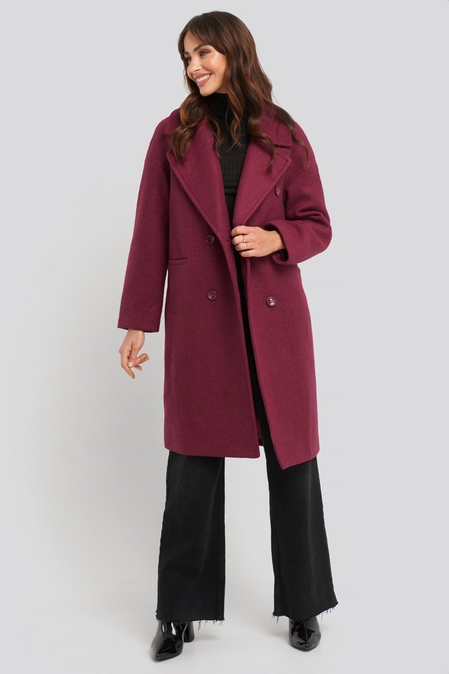 Oversized Double Breasted Coat Outfit