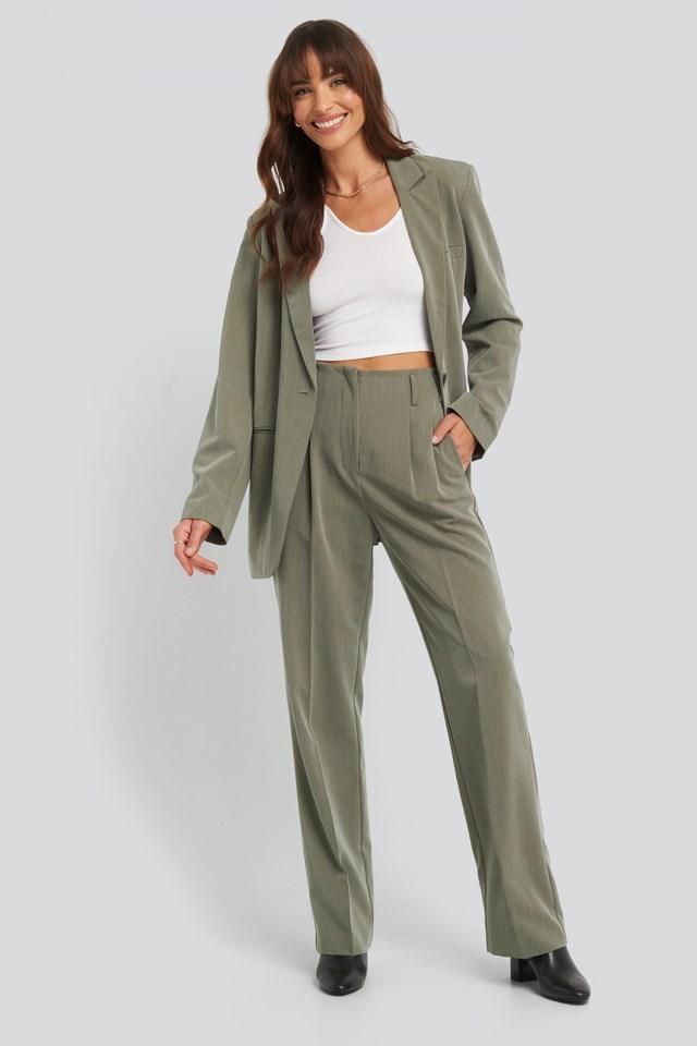 Asymmetric Strap Crop Top Outfit