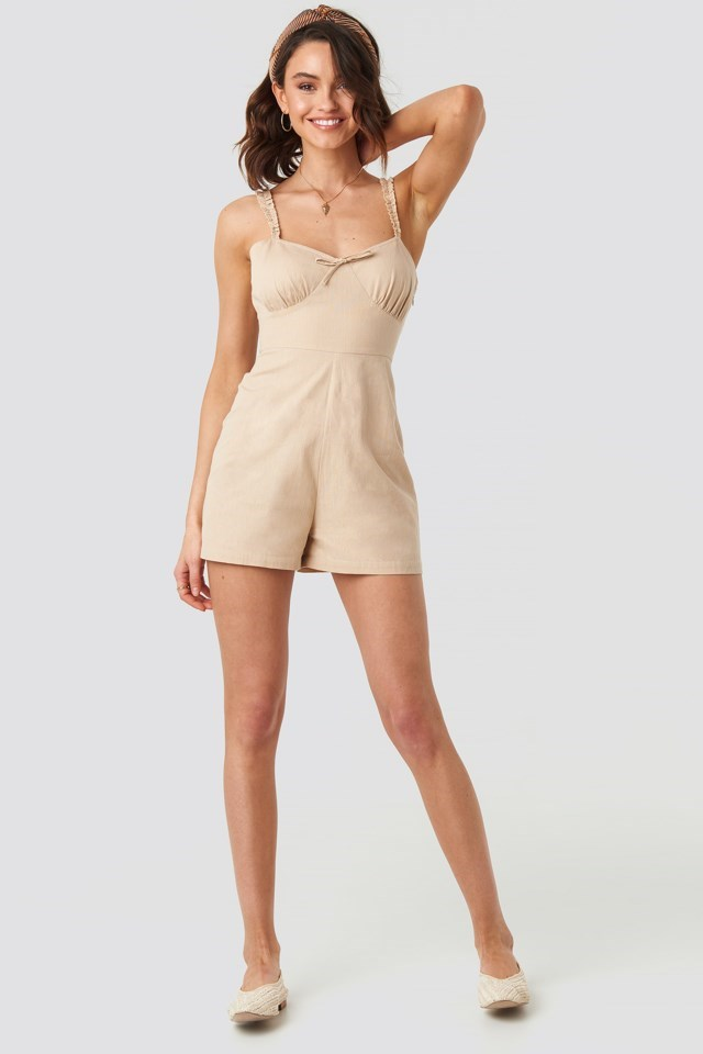 Frill Strap Playsuit Outfit