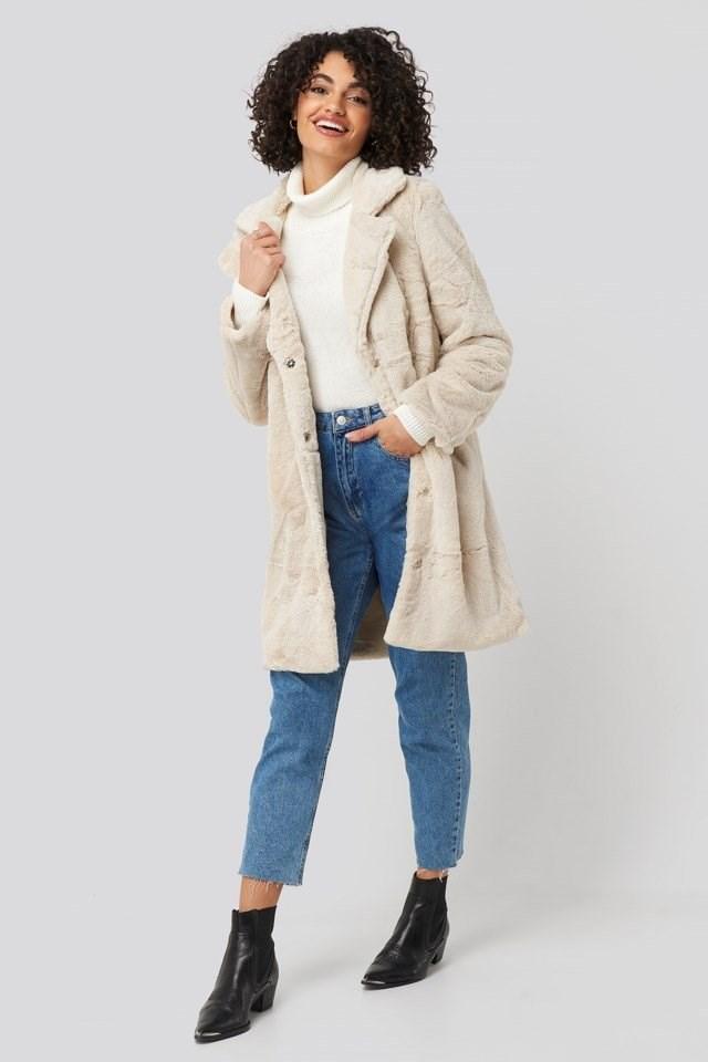 Leopard Faux Fur Jacket Outfit