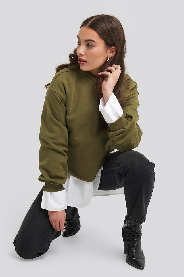 Cropped Sweatshirt Green Outfit