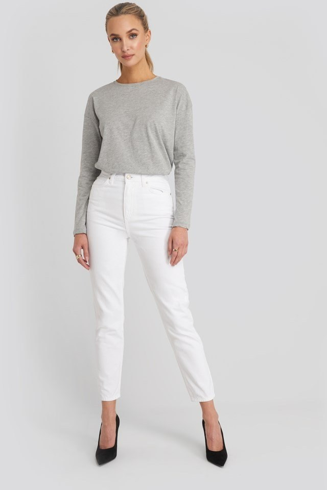 Yol High Waist Mom Jeans Outfit.